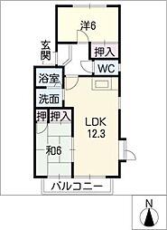 グリンピア雁宿[1階]の間取り