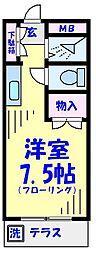 アパートメント常磐[103号室]の間取り