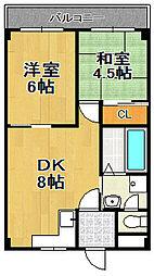 平山ハイツ[3階]の間取り