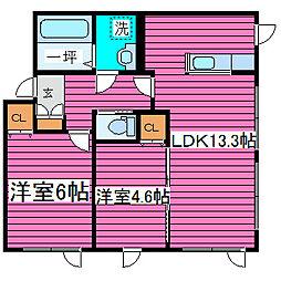 北海道札幌市東区北三十六条東18丁目の賃貸アパートの間取り