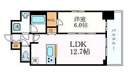 名古屋市営東山線 新栄町駅 徒歩4分の賃貸マンション 5階1LDKの間取り