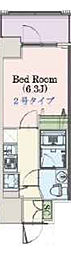 Osaka Metro千日前線 阿波座駅 徒歩3分の賃貸マンション 11階1Kの間取り