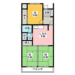 アーク稲元[2階]の間取り