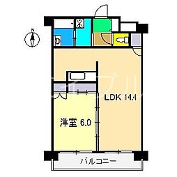 N&A APARTMENT[7階]の間取り
