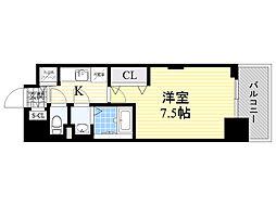 ラグゼ新大阪5 11階1Kの間取り