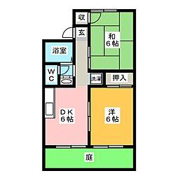 セジュールマルイチA棟[1階]の間取り