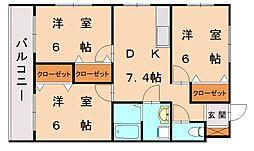 コスモビル[1階]の間取り