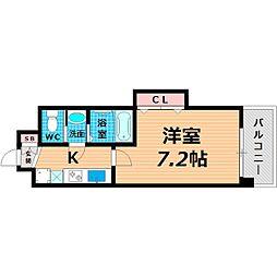 Osaka Metro長堀鶴見緑地線 今福鶴見駅 徒歩3分の賃貸マンション 8階1Kの間取り
