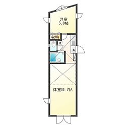 パレモナーク[2階]の間取り