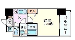 フォーリアライズ阿波座ウエスト 15階1Kの間取り