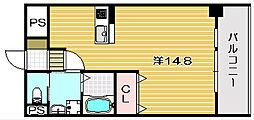レフィナード茨木[5階]の間取り