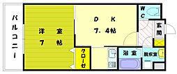ARTHU-WIND赤間(アーツウィンディ)[3階]の間取り