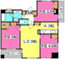 コスモ所沢グランステージ[2階]の間取り