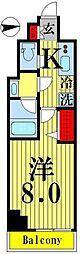 ティモーネグランデ錦糸町 7階1Kの間取り