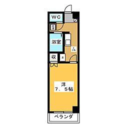 シャトーII  ASANO[2階]の間取り
