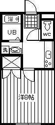 サンライズ岸田2003[105号室]の間取り