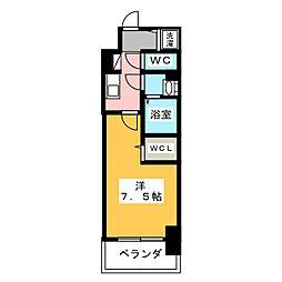 エスリード新栄プライム 10階1Kの間取り