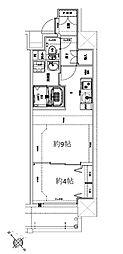 Osaka Metro堺筋線 天神橋筋六丁目駅 徒歩10分の賃貸マンション 4階1DKの間取り