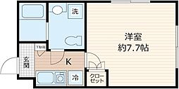 JR京浜東北・根岸線 川崎駅 徒歩7分の賃貸マンション 5階1Kの間取り