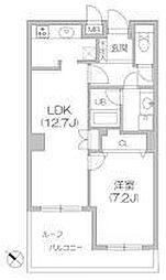 白金台アパートメント[305号室]の間取り
