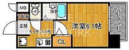 プレサンス京都四条烏丸[801号室号室]の間取り