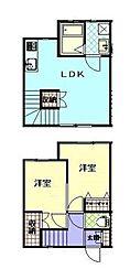 [テラスハウス] 神奈川県横浜市神奈川区七島町 の賃貸【/】の間取り