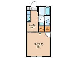 コンフォール鹿海[2階]の間取り
