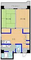 第5西田ビル[701号室]の間取り
