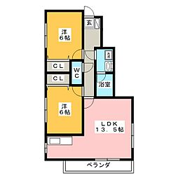 MIKIハイツII−A[1階]の間取り