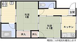 千里丘駅 徒歩15分2階Fの間取り画像