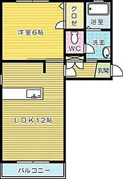 ヴァーチャスの杜 B棟[2階]の間取り