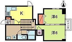 高円寺サンハイツ[1412号室]の間取り