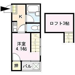 マキシム中央[2階]の間取り