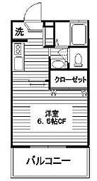 東京都文京区大塚6丁目の賃貸アパートの間取り
