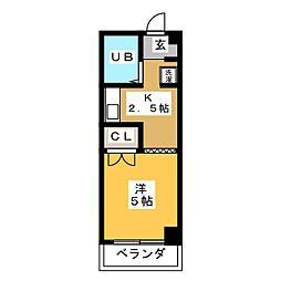 ザイテツマンション[2階]の間取り