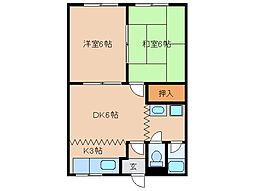 木の実東海[2階]の間取り