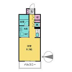 アーク白川公園パークマンション[9階]の間取り