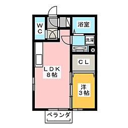 ETERNA宮子[2階]の間取り