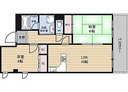 新大阪ファミール西館[4階]の間取り