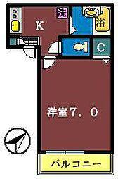 アパートメント須佐[202号室]の間取り