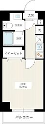 JR京浜東北・根岸線 川口駅 徒歩9分の賃貸マンション 3階1Kの間取り