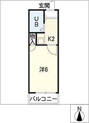 カーサ神宮西[2階]の間取り