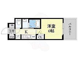 Osaka Metro御堂筋線 西中島南方駅 徒歩11分の賃貸マンション 4階1Kの間取り