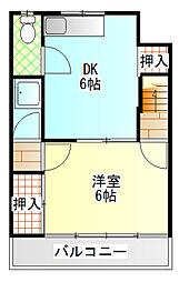 小野アパート[101号室]の間取り
