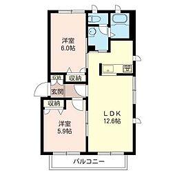エスポワール成瀬台四番館[2階]の間取り