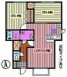 [テラスハウス] 埼玉県さいたま市中央区八王子4丁目 の賃貸【/】の間取り