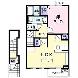ヴィララシュレ2[2階]の間取り