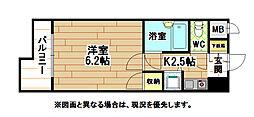 ギャラン黒崎[9階]の間取り