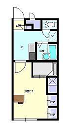 レオパレスアトレ SKMII[1階]の間取り