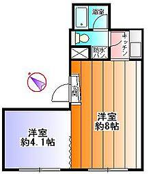 増田ビル2階 2階2Kの間取り